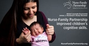 Over 40 years of evidence shows Nurse-Family Partnership improves outcomes for moms & babies in poverty.