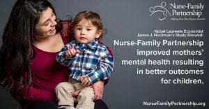 NFP improved mother's mental health resulting in better outcomes for children