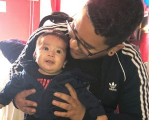 Photo of NFP dad Marvin and his son Matthew.