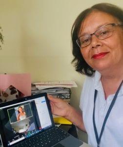 Nurse Sandra client telehealth