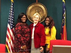 Mom and nurse meet Chairwoman